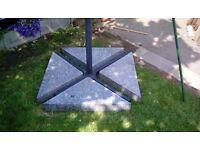 Garden umbrella stand weights