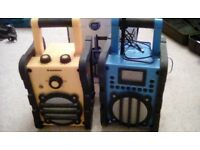 PAIR OF AUDIO SONIC OUTDOOR SITE RADIOS PLUS TWO CHARGERS