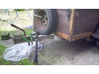A strong built 6,x4 car trailer ladder rack new tyred and spare
