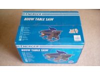 ENERGER 800 WATT TABLE SAW - NEW IN BOX