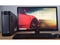 "High spec Lenovo i3-3220 Desktop PC,8GB DDR3 RAM,1TB HDD,hdmi,Wifi,Win 10 Computer+22"" FHD 1080p LED"