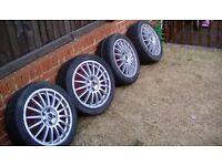 Tsw imola alloy wheels x4 7x17 vw seat skoda toyota audi 5x100