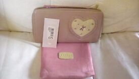 Original Radley 'Darling' purse in pink with heart design