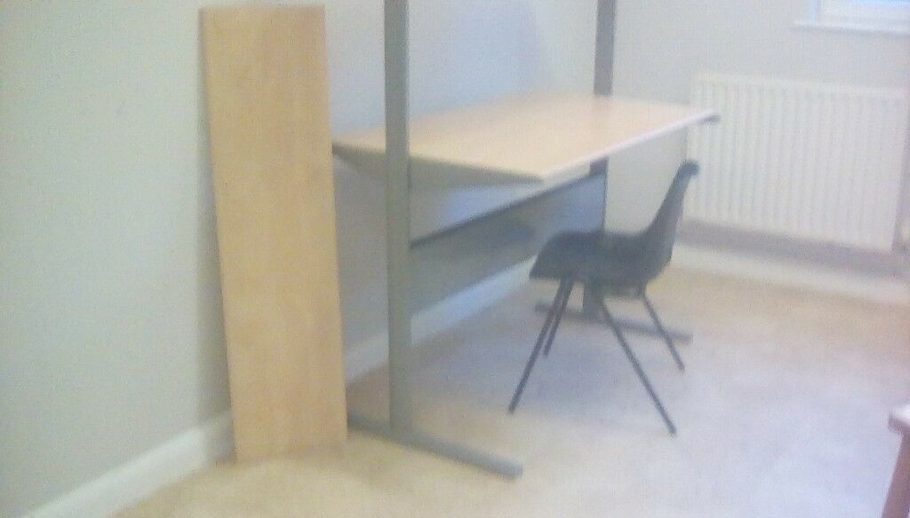 Ikea metal and wooden desk with shelves fredrik workstation in