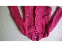 Red/claret ladies jacket - M&S Per Una -Size 16 - new condition