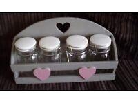 Kitchen jars and holder