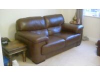 Good as new leather 3 seater sofa. For sale due to house move.