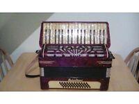 48 Bass Piano Accordian (4x12 configuration)