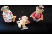 Cherishsd Teddies Year dated pieces 1995 & 1996 (3 pcs)