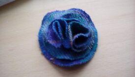 Harris Tweed. 'Flower' style brooch