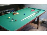 Snooker/pool table. 6' x3'