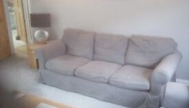 2 x IKEA EKTORP sofas' dark grey