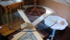 Glass coffee table #33718 £50