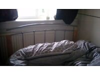 Silver and Pine bed frame 4ft (small double) in excellent condition £50