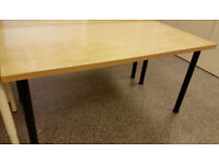 Ikea table larger size 150x75cm with 70cm black legs