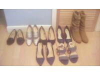 For sale 6 pairs ladies shoes,1 pair boots size 6