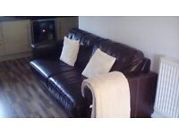 Leather sofa bed (double)