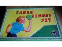 1950's Table Tennis set