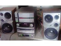 Pioneer multi play cd , radio stereo, cassette deck.