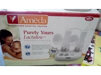 Ameda double breast pump closed system so safe to be used by more than one person used