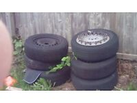 6 x steel wheel tyres no good