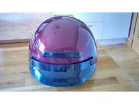 Wine coloured Dot helmet (L)