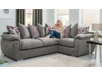 GREY BRAND NEW CARA CORNER SOFA EXPRESS FREE DELIVERY