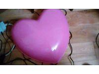 Pink heart light