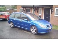 Peugeot 307 sw estate 7 seater 2.0 hdi