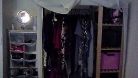 Wardrobe and shoe stand with 4 storage boxes