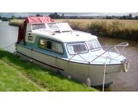 NAUTILUS MOTOR CRUISER- 22FT BOAT. ROVING ON LIVERPOOL TO LEEDS CANAL