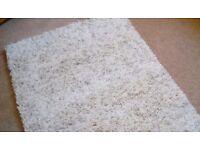 Brand new ceam deep pile shaggy rug..