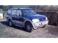 Mitsubishi Shogun 3.2 DiD 7 Seater 4x4 Jeep Motd Sept £1095 ono