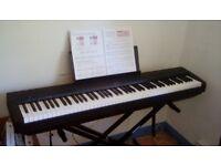 Yamaha P-45 Digital Piano (Black) for Sale + Duronic Keyboard Stand KS2B
