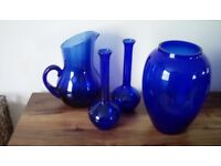 Habitat blue glass collection