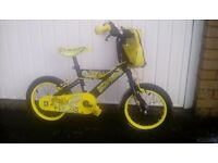 Kids 14' T-Rex Bike. It comes with handy bike bag anbd stabilisers. Excellent condition.