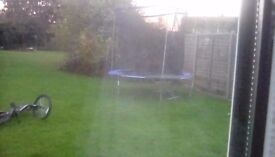Trampoline with ripped enclosure