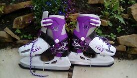 New Girls multi size ice skates (11-13.5)