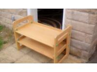 Shoe rack/storage shelving for sale