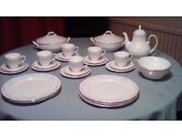 Beautiful china dinner service 41 piece excellent condition not a mark on.Clara Wren english china