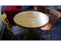 Pine Table & 2 Chairs (#42193) £70