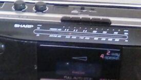 Sharp stereo radio cassette recorder