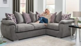 GREY BRAND NEW CORNER SOFA EXPRESS FREE DELIVERY