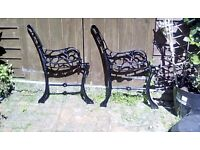 CAST IRON BENCH ENDS not to be confused with cheap pressed steel ones these will last a lifetime