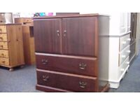 Two door cupboard with two drawers #29641 £45