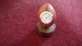 Rugby ball desk clock