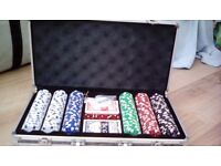 Poker table set - 300 chips & carry case