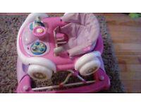 Girls car baby walker