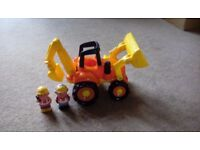 Elc Happyland digger with 2 characters