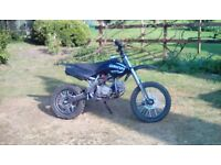 125cc pit bike big wheel!
